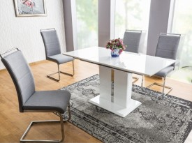 Lakierowany stół na jednej nodze Dallas