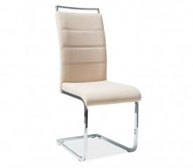 Tapicerowane krzesło na płozach H441 tkanina
