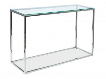 Nowoczesna konsola ze szklanym blatem Hilton C