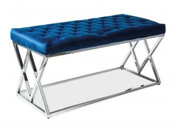 Nowoczesna ławka z pikowanym siedziskiem Elixa