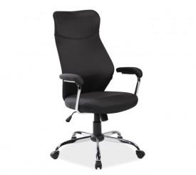 Czarne krzesło biurowe Q-319