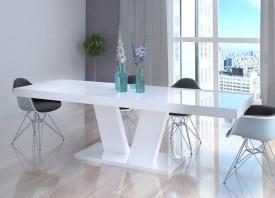 Stół Vega Luk rozkładany do 260 cm biały wysoki połysk