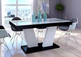 Stół rozkładany Vega Luk 160-260 cm z blatem białym