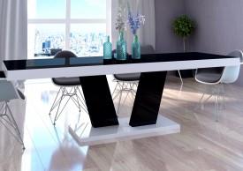 Stół rozkładany Vega Luk 160-260 cm z blatem czarnym
