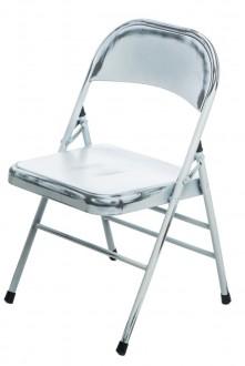 Metalowe krzesło składane do domu i biura Cotis z przetarciami