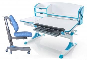 Zestaw dziecięcy regulowane biurko i krzesło I-Study kolorowy