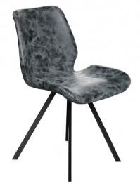 Krzesło z lamówką tapicerowane skórą ekologiczną Raja