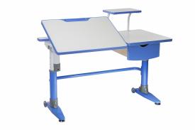 Regulowane biurko dziecięce z półką i pochylanym blatem Ballare