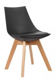 Krzesło na bukowym stelażu w stylu skandynawskim Slim