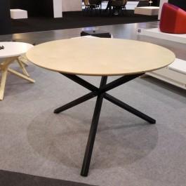 Okrągły stół do jadalni z blatem ze sklejki Triple 115