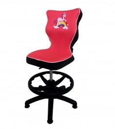 Krzesło obrotowe z jednorożcem i podnóżkiem Storia rozmiar 4 (133-159 cm)