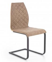 Krzesło na płozach z pikowanym oparciem i tyłem ze sklejki K265