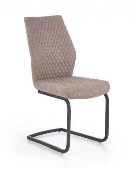 Pikowane krzesło tapicerowane skórą ekologiczną K272
