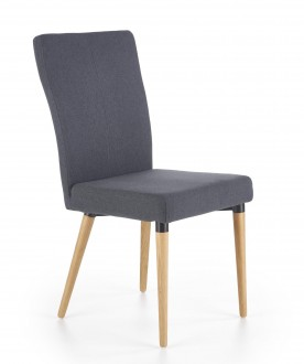 Tapicerowane krzesło na drewnianych nogach K273