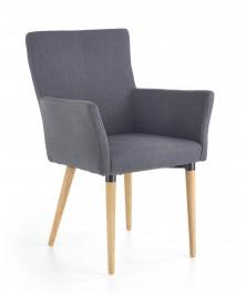 Krzesło z podłokietnikami na drewnianych nogach K274