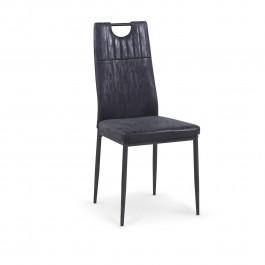 Krzesło z uchwytem do przenoszenia tapicerowane ekoskórą K275