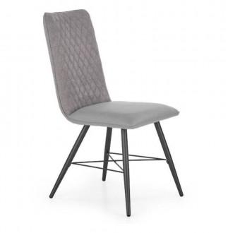 Krzesło z ekoskóry z pikowanym oparciem K289
