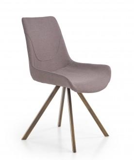 Krzesło tapicerowane tkaniną na stalowych nogach K290