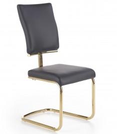 Krzesło ze skóry ekologicznej na złotym stelażu K296