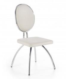 Krzesło do jadalni na chromowanym stelażu K297