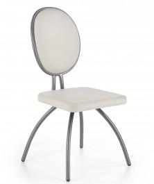 Krzesło do jadalni na grafitowym stelażu K298