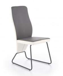 Dwukolorowe krzesło ze skóry ekologicznej K300