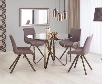 Designerski stół z okrągłym blatem ze szkła Lungo