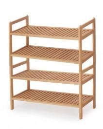 Drewniany stojak na obuwie z czterema półkami ST8