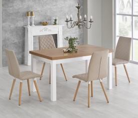 Rozkładany stół do jadalni z blatem w imitacji drewna Tiago