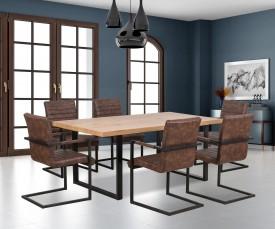 Nierozkładany stół w stylu industrialnym Torres