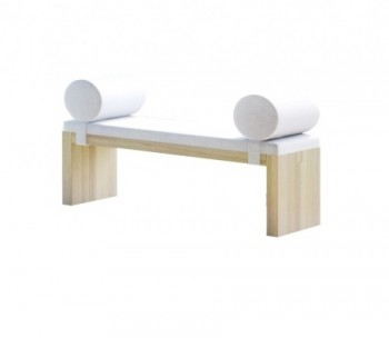 Drewniana ławka z tapicerowanym siedziskiem Toso