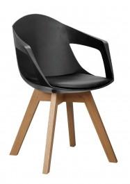Krzesło z poduszką na siedzisku i podłokietnikami Holey Arm
