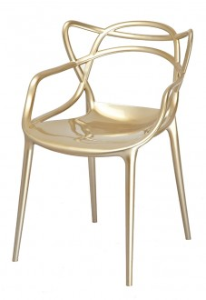 Błyszczące krzesło do kawiarni z tworzywa sztucznego Luxo