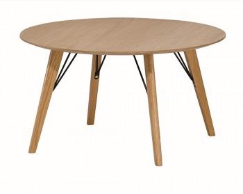 Okrągły stolik kawowy na drewnianych nogach Vener FI 80
