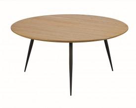 Stolik kawowy z fornirowanym blatem w stylu industrialnym Lucas