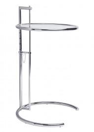 Stolik ze szklanym blatem o regulowanej wysokości Grey