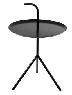 Metalowy stolik z blatem w kształcie tacy i uchwytem Blanco
