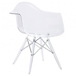 Transparentne krzesło z podłokietnikami DSP Ice