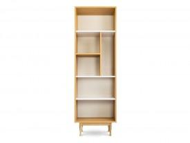 Otwarty regał pokojowy z półkami na drewnianych nogach Elza 03