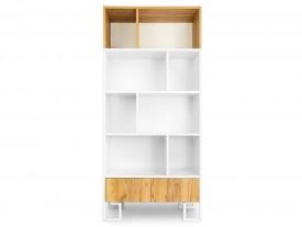 Otwarty regał z półkami w stylu industrialnym Hesse 04