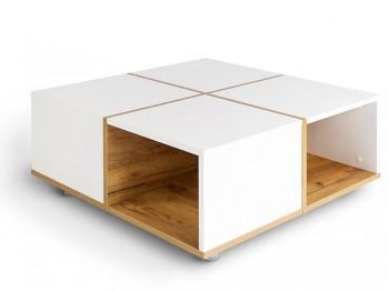 Kwadratowy stolik kawowy na kółkach Korsa 2
