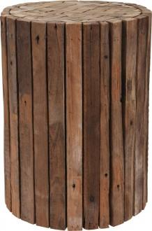 Designerski stołek z drewna tekowego Wood
