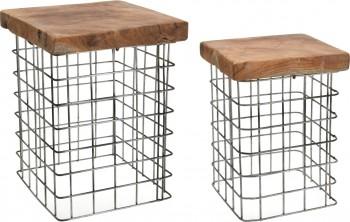 Zestaw 2 stołków w stylu industrialnym Rize Square