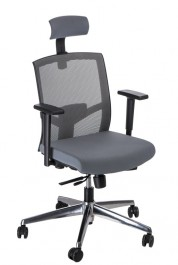 Ergonomiczny fotel biurowy Ergo z regulowanym zagłówkiem