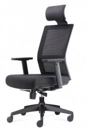 Regulowany fotel obrotowy do biura Press z zagłówkiem