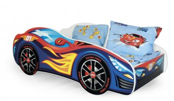 Chłopięce łóżko w kształcie samochodu Speed
