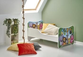 Łóżko dziecięce z motywem dżungli Happy Jungle