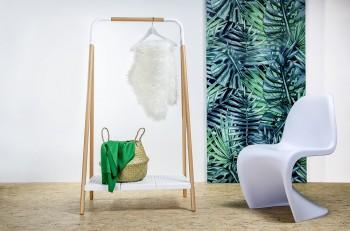 Wieszak na ubrania z półką w stylu skandynawskim Norm