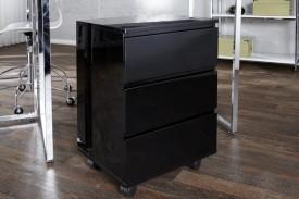 Kontenerek biurkowy na kółkach w wysokim połysku Deal