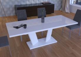 Biały stół rozkładany w wysokim połysku Sommelier